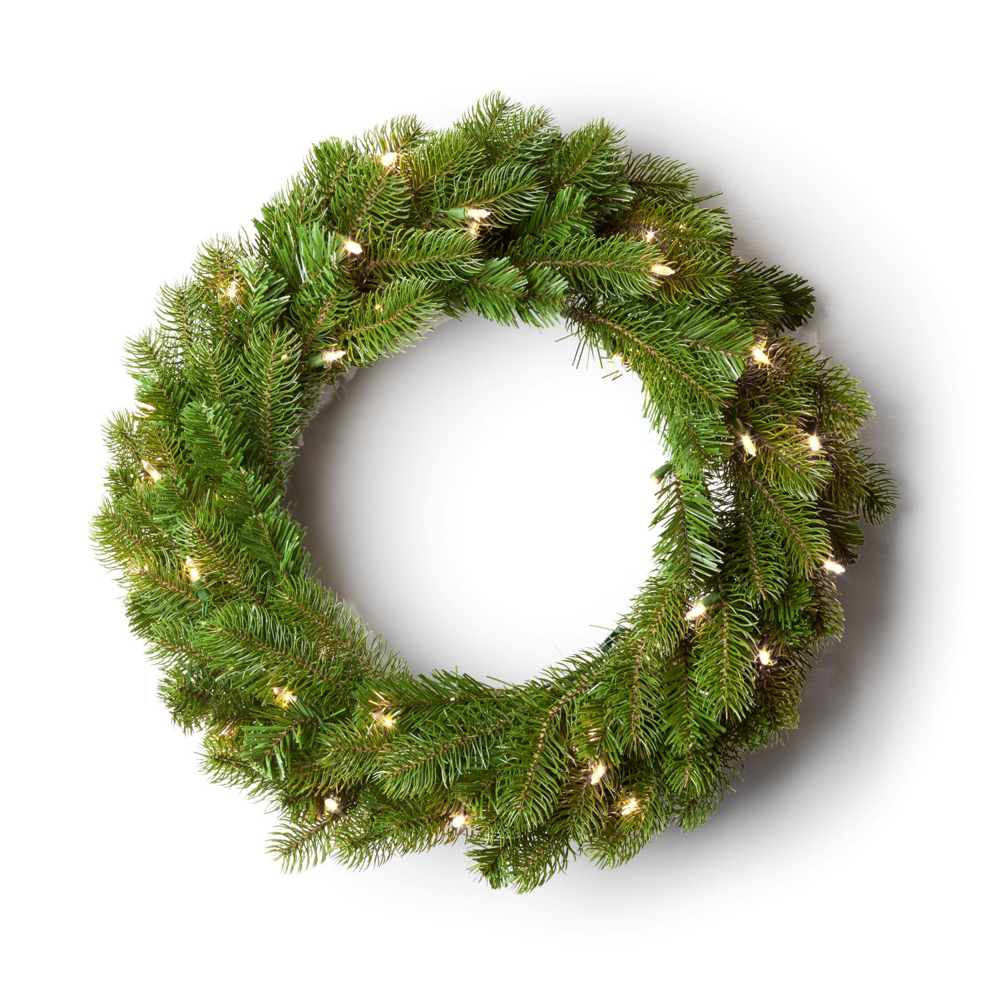 "24"" King Douglas Fir Wreath with Warm White LED Lights (3AA Battery Operated)"