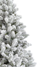 Load image into Gallery viewer, 6.5' King Flock® Artificial Christmas Tree with 600 Warm White LED Lights