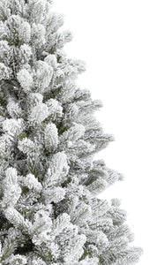 10' King Flock® Artificial Christmas Tree Unlit