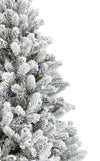 8' King Flock® Artificial Christmas Tree Unlit
