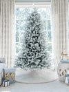 Load image into Gallery viewer, 12' King Flock® Quick-Shape Artificial Christmas Tree Unlit
