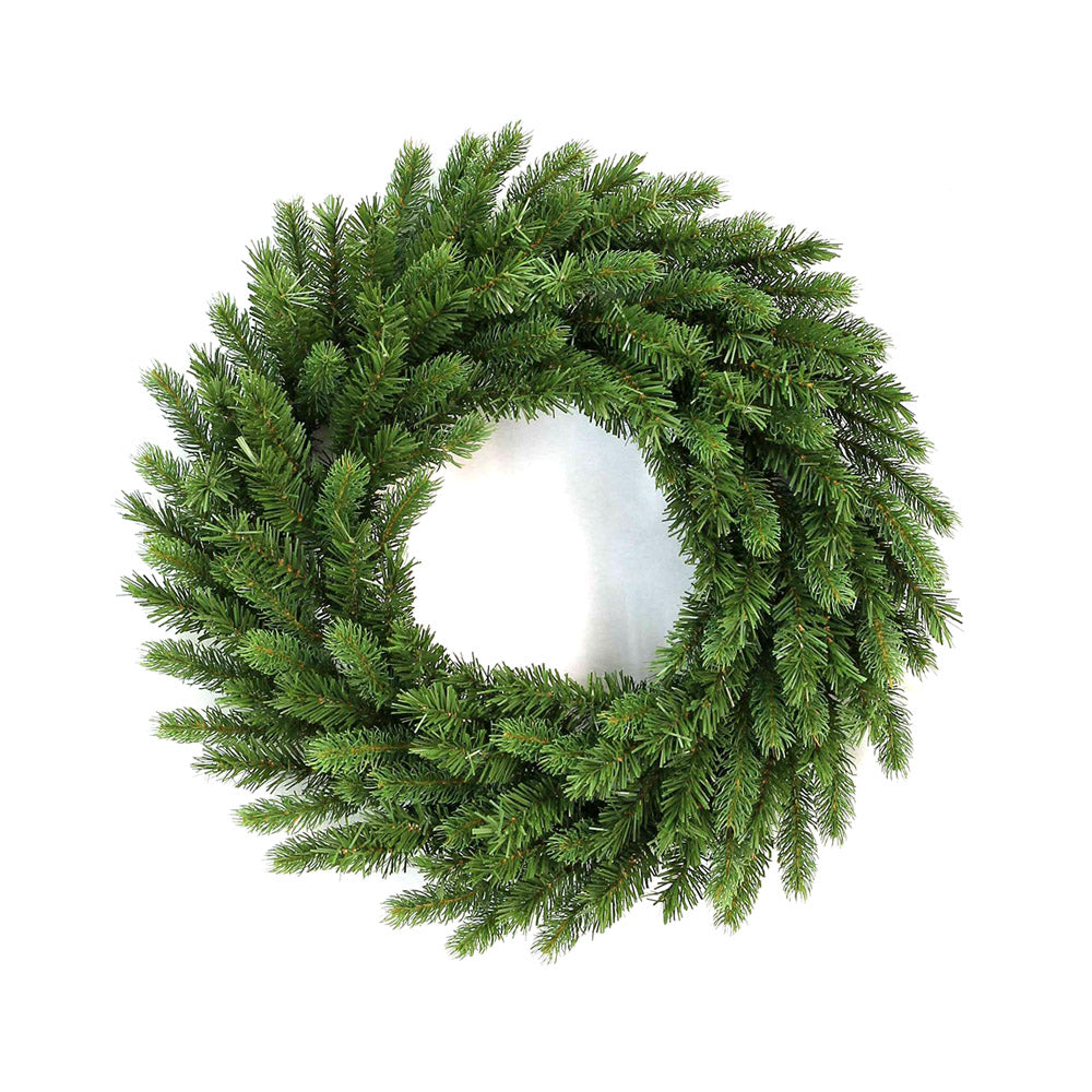 "24"" King Fraser Fir Wreath with Warm White LED Lights (Battery Operated)"