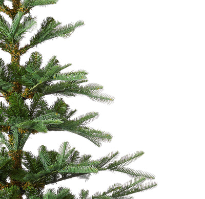 6' King Noble Fir Artificial Christmas Tree with 400 Warm White LED Lights
