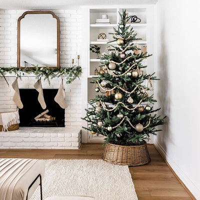 8' King Noble Fir Artificial Christmas Tree with 600 Warm White LED Lights
