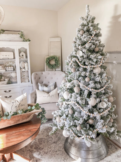 8' Prince Flock® Artificial Christmas Tree Unlit