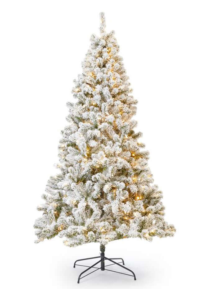 (OPEN BOX) 7' Prince Flock® Tree 400 Warm White LED Lights, FINAL SALE