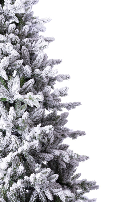 10' Queen Flock™ Artificial Christmas Tree with 1200 Warm White LED Lights