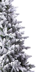 6.5' Queen Flock® Artificial Christmas Tree with 650 Warm White LED Lights