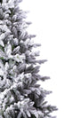 Load image into Gallery viewer, 8' Queen Flock® Artificial Christmas Tree with 900 Warm White LED Lights