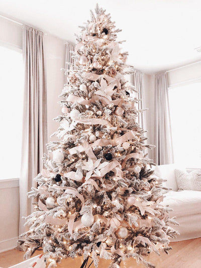 9' Queen Flock® Artificial Christmas Tree Unlit