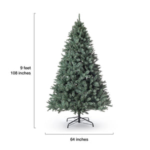 (OPEN BOX) 9' Tribeca Spruce Blue Artificial Christmas Tree Unlit. FINAL SALE