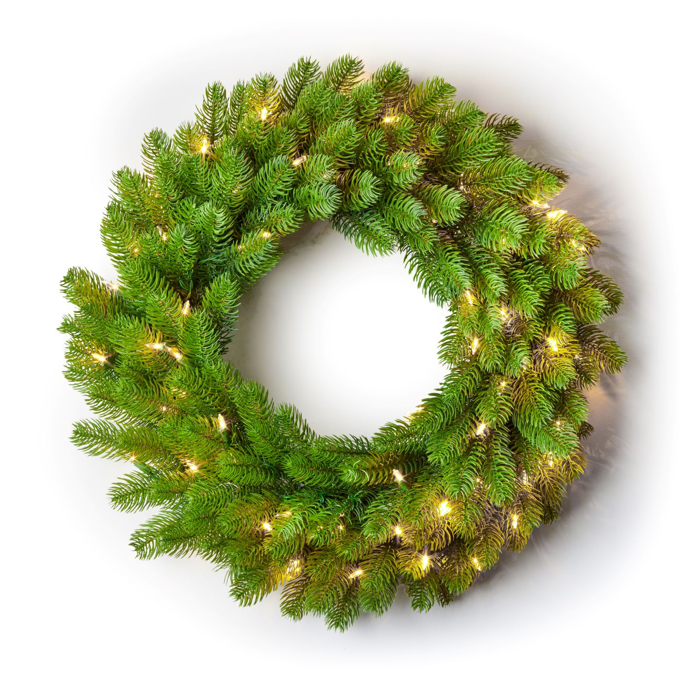 "24"" Royal Fir Wreath with Warm White LED Lights (Battery Operated)"