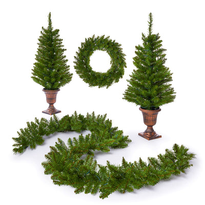 Tribeca Spruce Collection 4-Piece Set with Warm White LED Lights (Battery Operated)