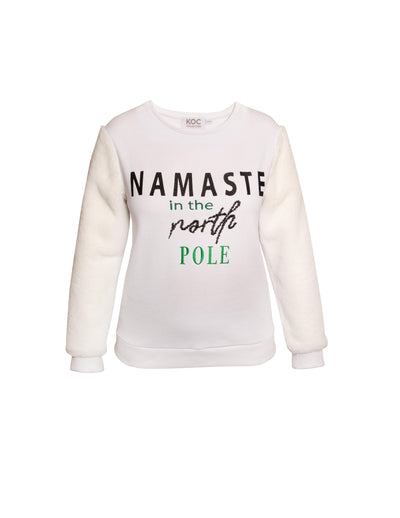 His & Hers Ugly Christmas Namaste Sweater