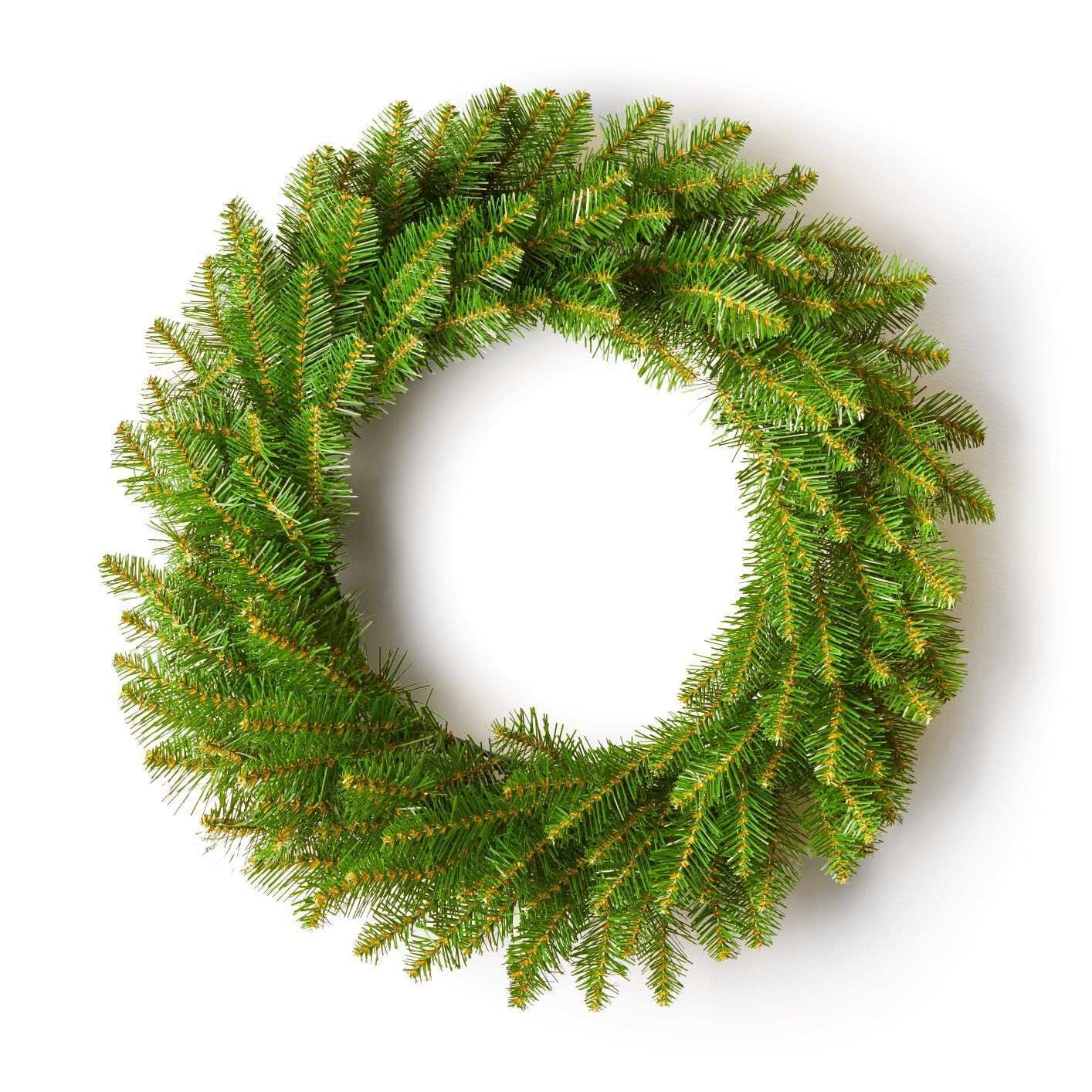 "24"" Yorkshire Fir Wreath with Warm White LED Lights (Battery Operated)"
