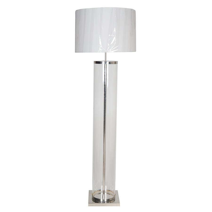 "7747-105L1NI L760601 Floor Lamp w/Nickel Finish & Shade (12"" Base/9"" Body) (73Hx23D)"