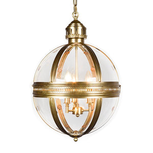 7747-107L3BRS L760701 3 Light Iron Chandelier w/Antique Brass Finish (25Hx16D)