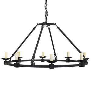 7749-816L8 L780801 8 Light Black Chandelier (23Hx39D)