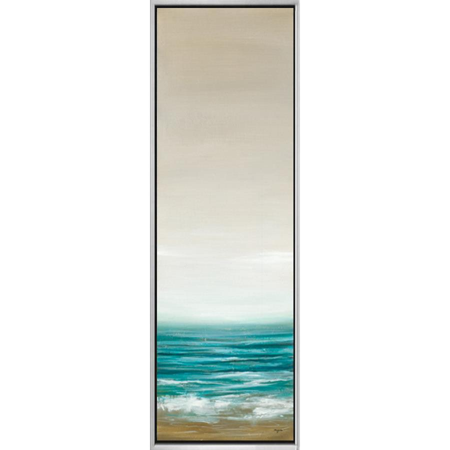 "4C306602 Framed Floating in a Contemporary Silver Floater Frame #10466 with a matching 2.25"" profile."