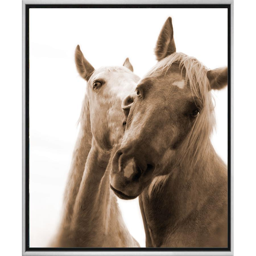 FG3077C01 Giclée on Matte Canvas, framed Floating in a Contemporary Silver Floater Frame #10466 with a matching 2.25in profile.