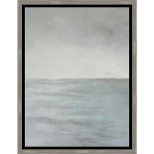 "1C700101 Framed in a Contemporary Silver Frame #10105. This frame has a black 2.125"" profile."