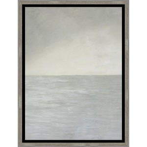 "1C700102 Framed in a Contemporary Silver Frame #10105. This frame has a black 2.125"" profile."