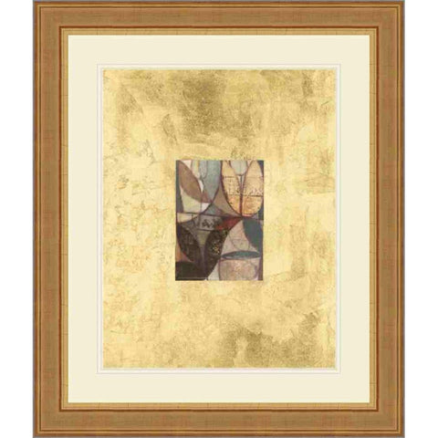 P402701 Print on Paper, Under Glass, Framed in Frame#10509 (Traditional Gold) Embellished with Gold Foil Top Mat: Ivory Bottom Mat: Ivory