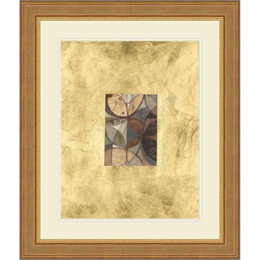 P402702 Print on Paper, Under Glass, Framed in Frame#10509 (Traditional Gold) Embellished with Gold Foil Top Mat: Ivory Bottom Mat: Ivory