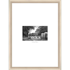 FG4194P02 Giclée on Matte Paper, under Glass, framed in Frame#11164 (Contemporary Silver)