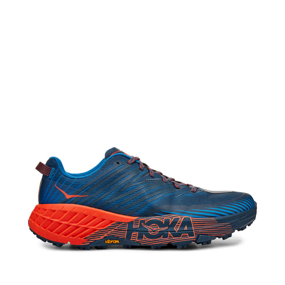 HOKA Men's SPEEDGOAT 4 Black/Blue/Orange