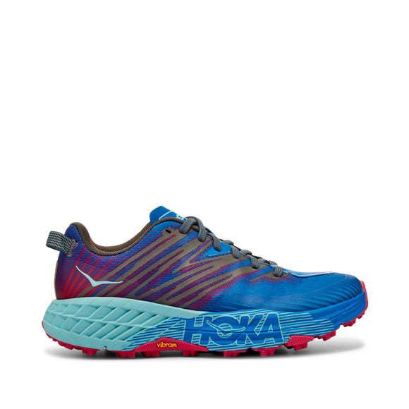 HOKA Women's SPEEDGOAT 4 BLUE/PINK