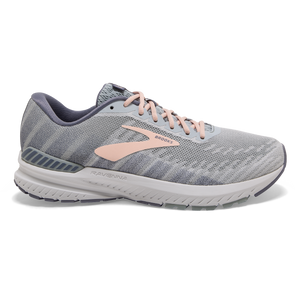 Brooks Women's Ravenna 10 WHT/GREY/PEACH