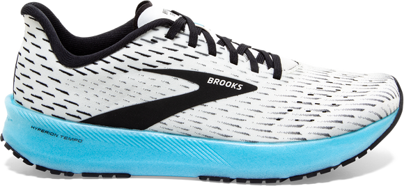 Brooks Women's Hyperion Tempo WHITE/BLACK/AQUA