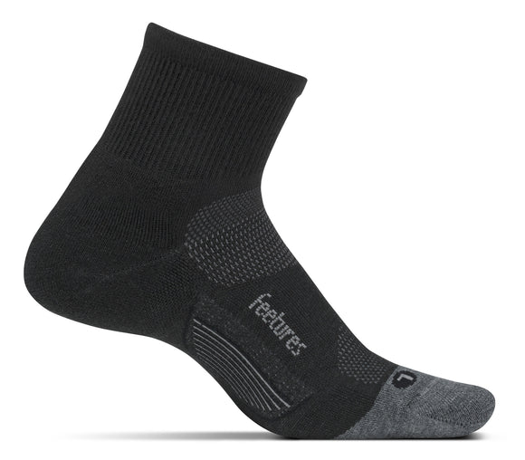 Feetures Elite Merino Light Quarter CHARCOAL
