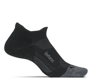 Feetures Elite Merino Ultralight No Show Tab CHARCOAL