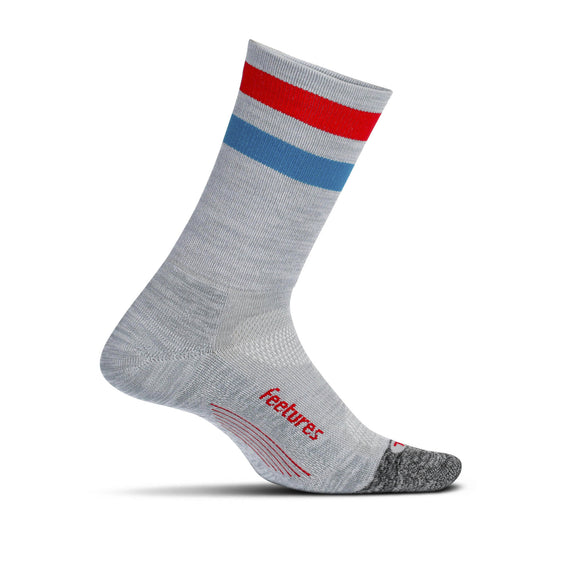 Feetures Elite Lt Mini Crew GRAY STRIPE