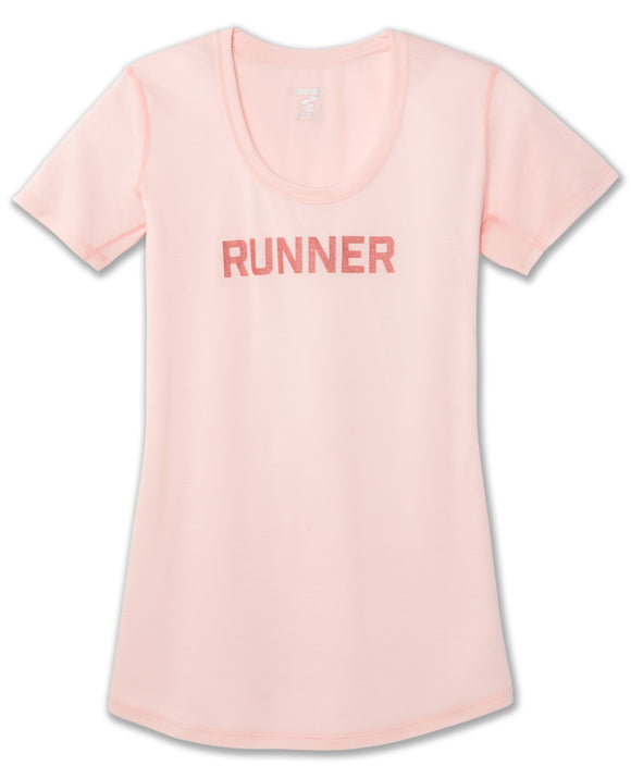 Brooks Sports, Inc Women's Distance Tee PINK