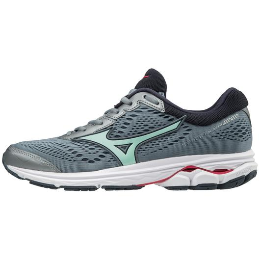 Mizuno Rider 22 Women D grey/mint