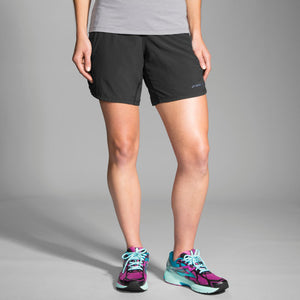 "Brooks Chaser 7"" Short BLACK"