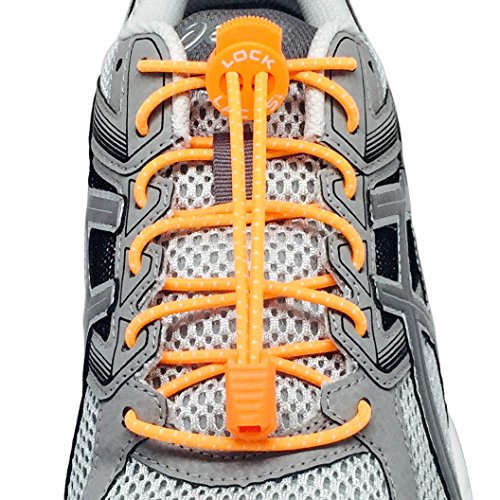 Nathan Sports Lock Laces Orange