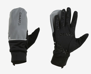 Craft Hybrid Weather Glove SILVER/BLK
