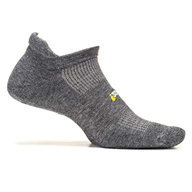 Feetures Ultralight No Show Tab Heather Gray