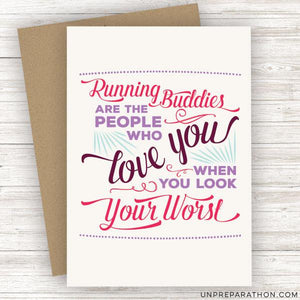 Unpreparathon Greeting Card Sweat Is Our Sparkle