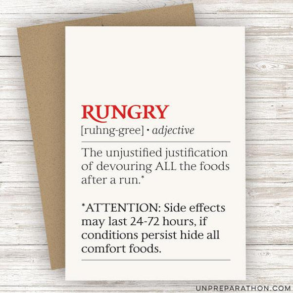 Unpreparathon Greeting Card Rungry