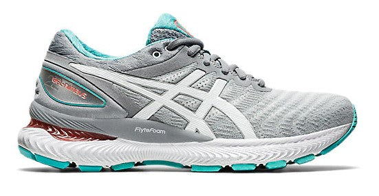Asics Women's NIMBUS 22 SHEETROCK/WHITE