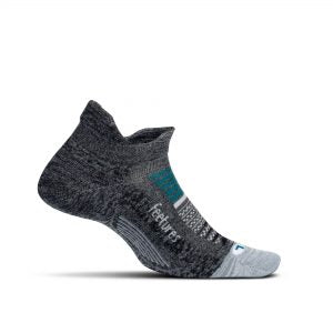 Feetures Elite Light No Show Tab ASTEROID GRAY