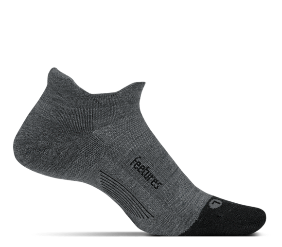 Feetures Elite Merino Ultralight No Show Tab GREY