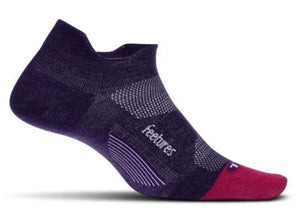 Feetures Elite Merino Ultralight No Show Tab PURPLE