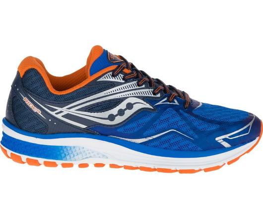 Saucony Ride 9 Boy's BLU/ORG