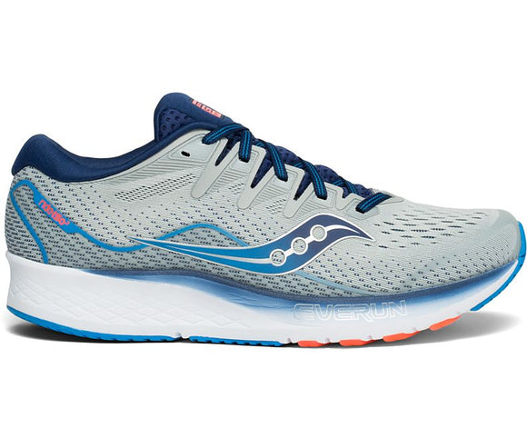 Saucony Men Ride ISO 2 2E Grey/Blue